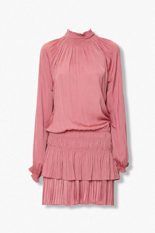 Tiered Mock Neck Peasant Dress, image 1
