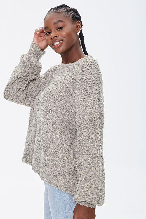 Popcorn Knit Drop-Sleeve Sweater, image 2
