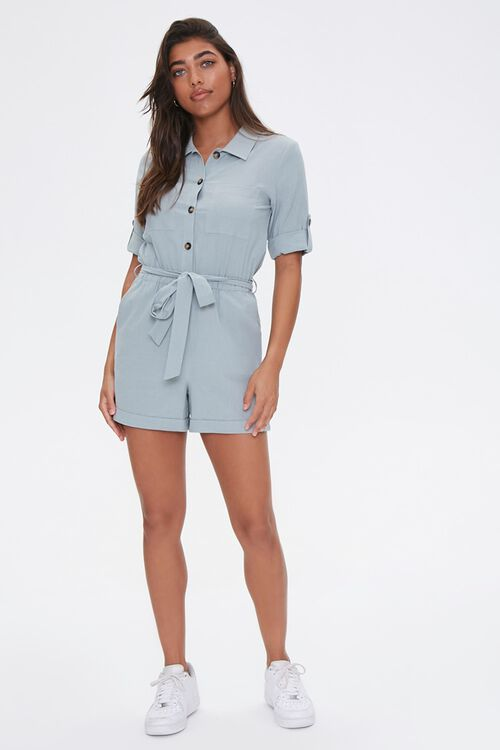 Cotton Button-Up Romper, image 4