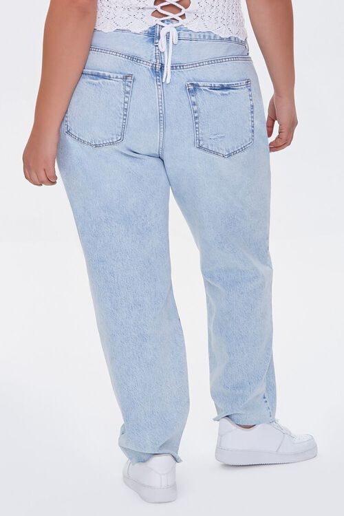 Plus Size Distressed High-Rise Jeans, image 4