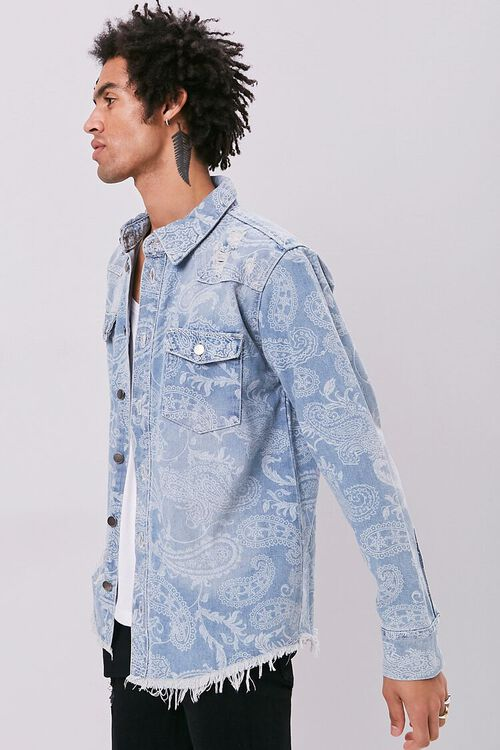 Paisley Print Denim Jacket, image 2