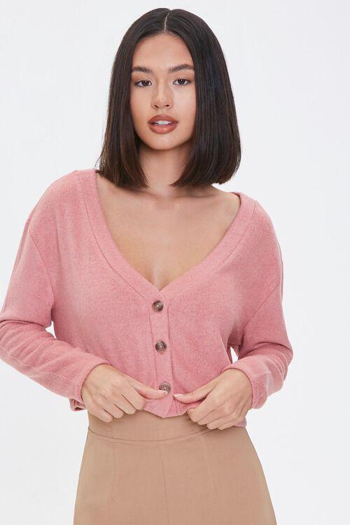 ROSE Boxy Cardigan Sweater, image 1