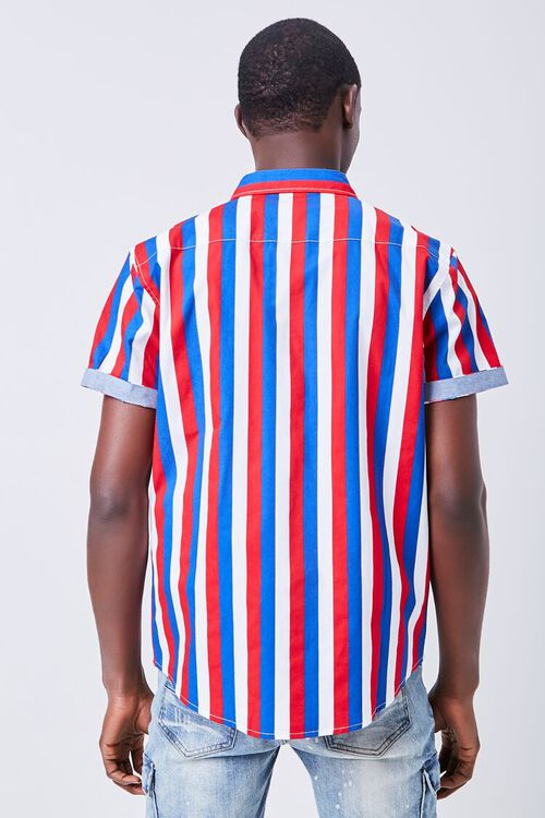 RED/MULTI Fitted Striped Print Shirt, image 3