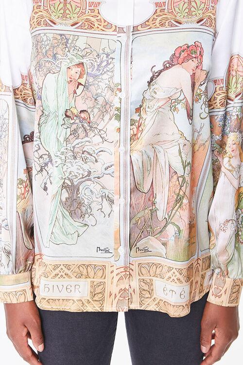 Alphonse Mucha Art Print Shirt, image 5