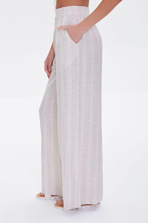 Striped Linen-Blend Pants, image 3