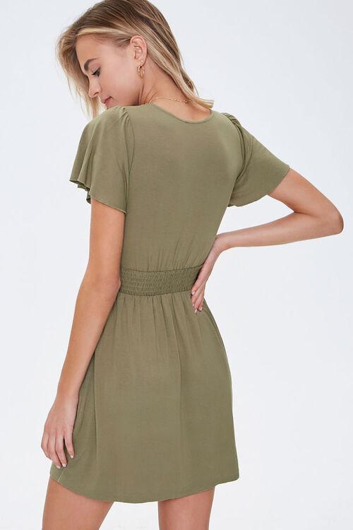 Smocked-Waist Skater Dress, image 3