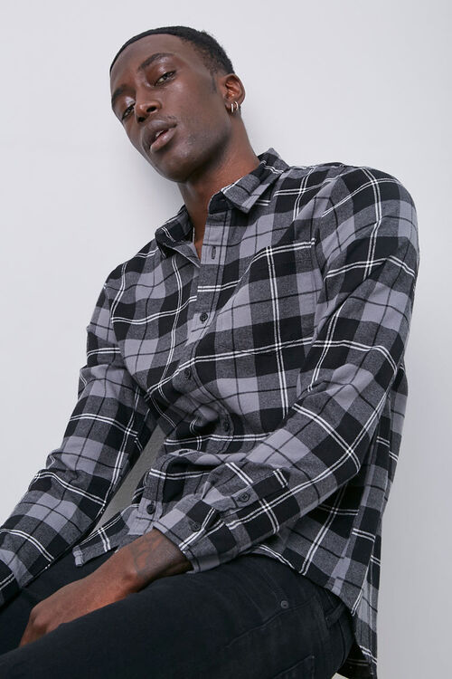 Classic Fit Plaid Flannel Shirt, image 1