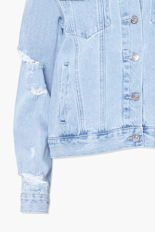 Button-Front Denim Jacket, image 4