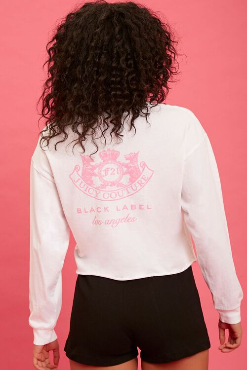 WHITE/PINK Juicy Couture Graphic Top, image 3