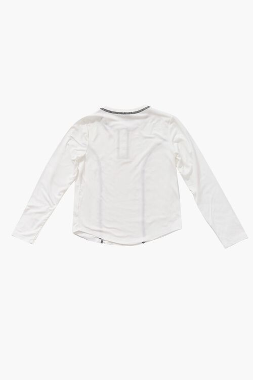 Girls Topstitched Buttoned Top (Kids), image 2