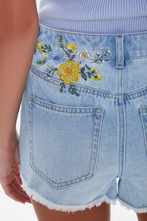 Embroidered Floral Denim Shorts, image 2