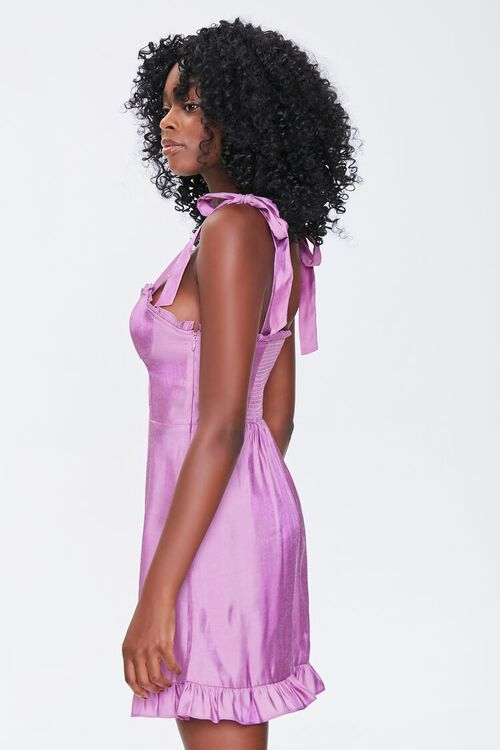 Sheeny Self-Tie Mini Dress, image 2