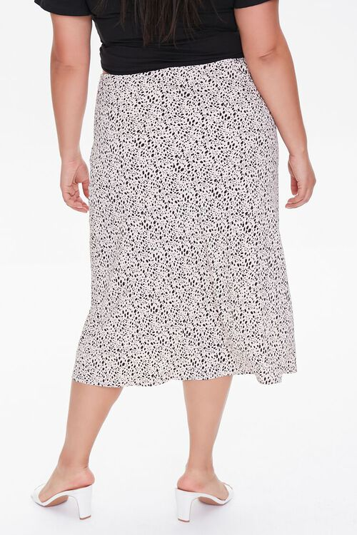 Plus Size Spotted Print Midi Skirt, image 4