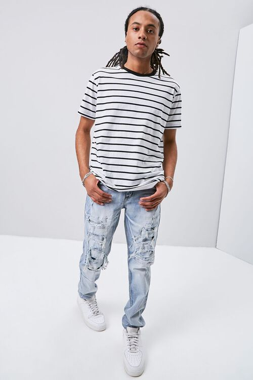Distressed Slim-Fit Jeans, image 1