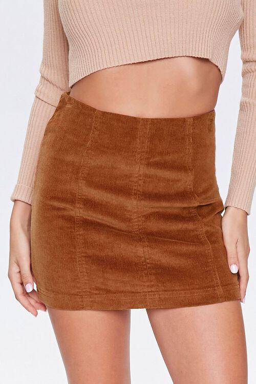 Corduroy Mini Skirt, image 4