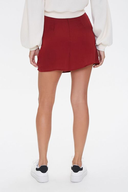 Lace-Up Satin Mini Skirt, image 4