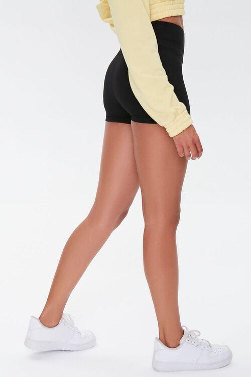 BLACK Basic Organically Grown Cotton Biker Shorts, image 3