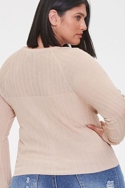 Plus Size Ribbed Cardigan Sweater, image 3