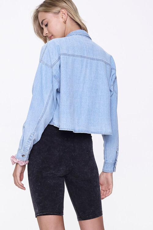 Drop-Sleeve Denim Shirt, image 3