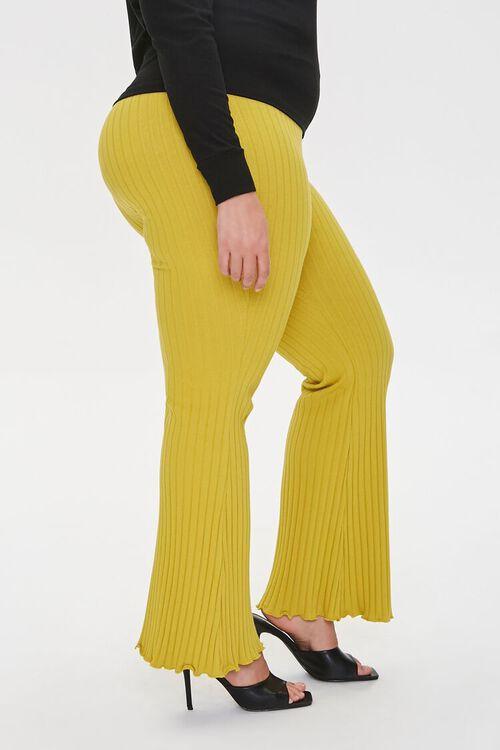 Plus Size Ribbed Flare Pants, image 3