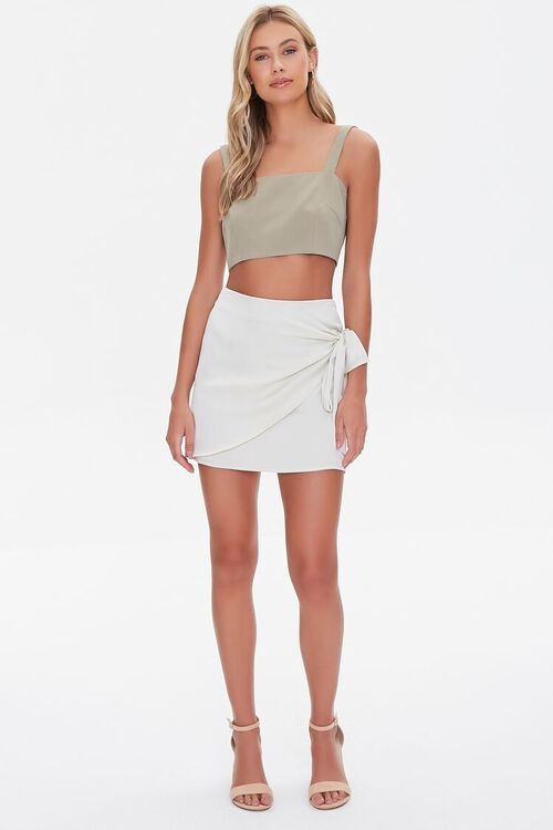 Knotted Wrap Mini Skirt, image 5