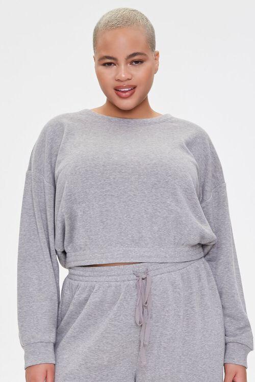 Plus Size Sweatshirt & Shorts Set, image 5
