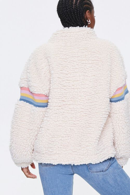 Striped Faux Shearling Jacket, image 3
