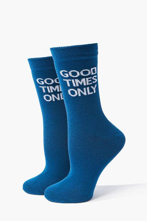 Good Times Graphic Crew Socks, image 1
