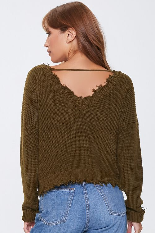 Ribbed Distressed-Trim Sweater, image 3