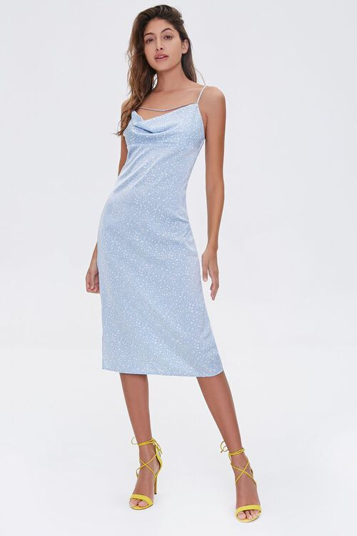 Spotted Print Cowl Dress, image 4