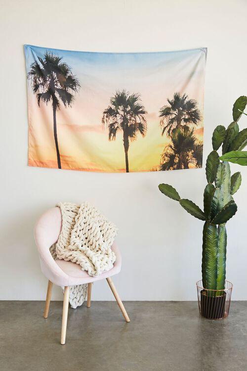 YELLOW/MULTI Palm Tree Sunset Wall Tapestry, image 1