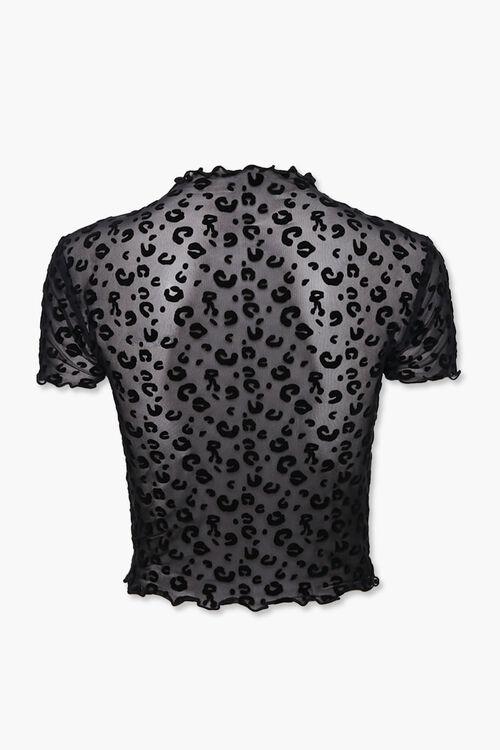 Sheer Leopard Print Top, image 2