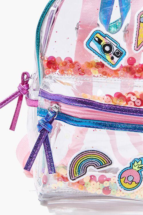 Girls Transparent Sequin Backpack  (Kids), image 4