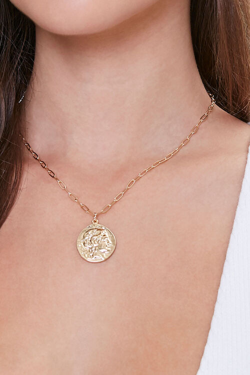 Ancient Coin Pendant Necklace, image 1