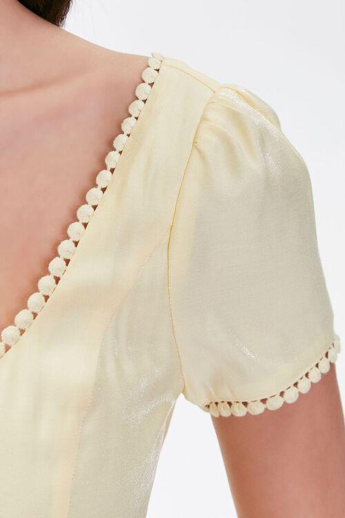 Crochet-Trim Mini Dress, image 5