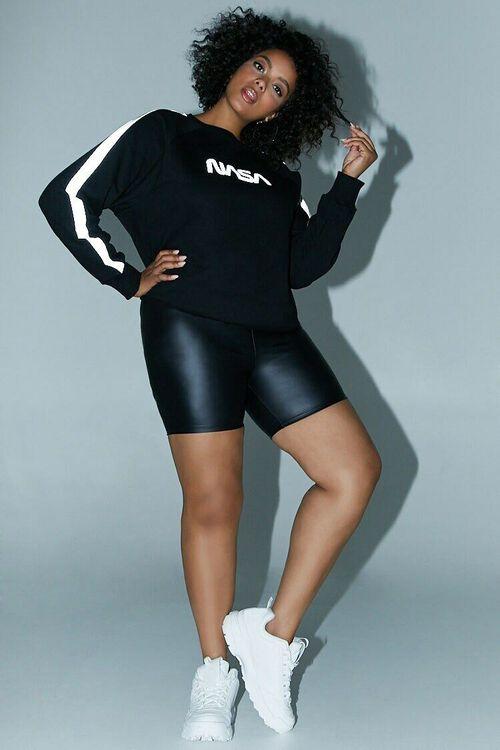 BLACK/SILVER Plus Size NASA Logo Graphic Sweatshirt, image 4