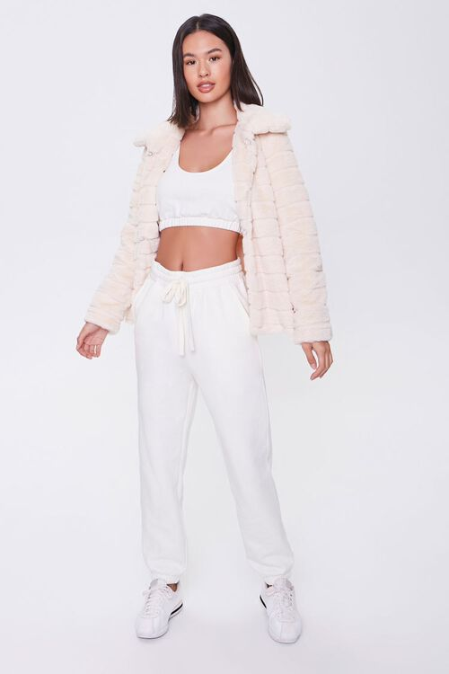 Quilted Faux Fur Coat, image 4