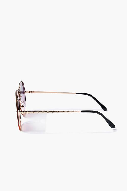 Aviator Geo Metal Sunglasses, image 3