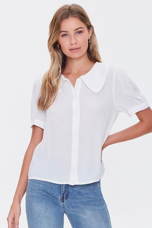 Puff-Sleeve Button-Up Shirt, image 1
