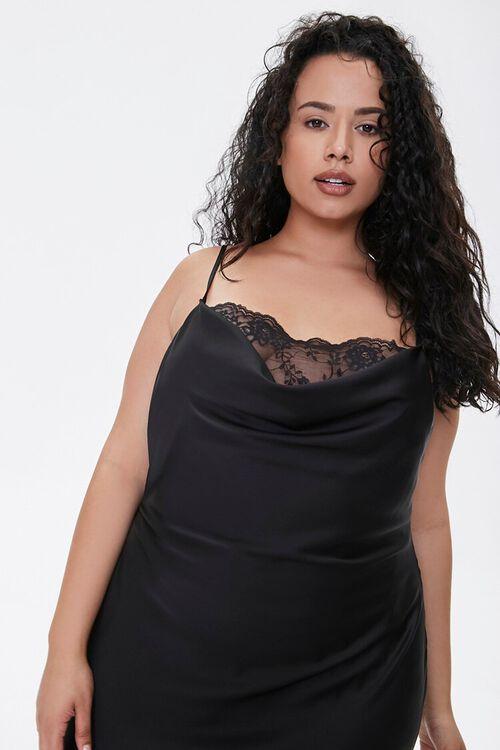 Plus Size Satin Cami Maxi Dress, image 4