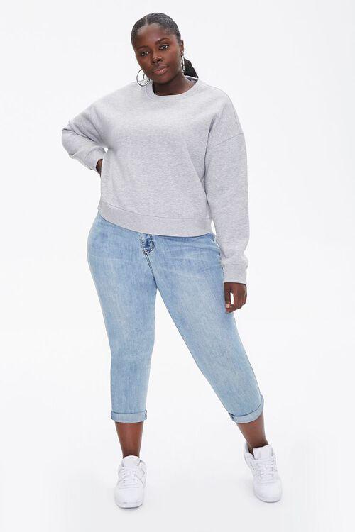Plus Size Fleece Drop-Sleeve Pullover, image 4