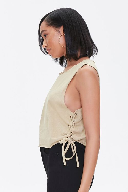 Lace-Up Muscle Tee, image 2