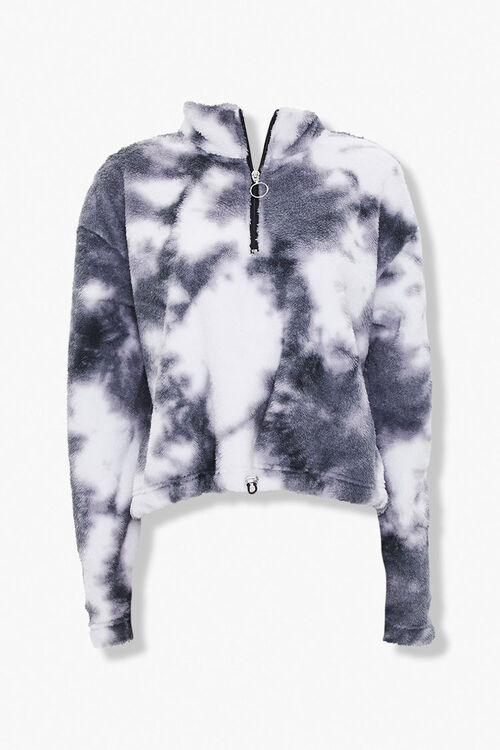 Faux Shearling Half-Zip Pullover, image 1