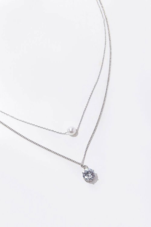 Layered CZ Pendant Necklace, image 2