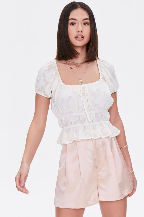 Burnout Puff-Sleeve Top, image 1