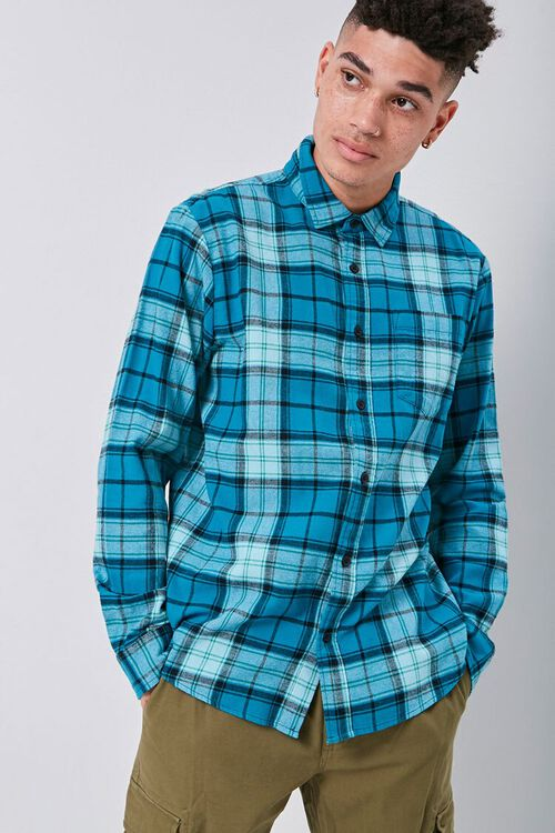 Classic Flannel Plaid Shirt, image 1