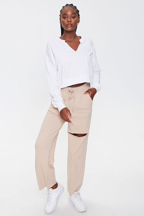 Ripped French Terry Sweatpants, image 5