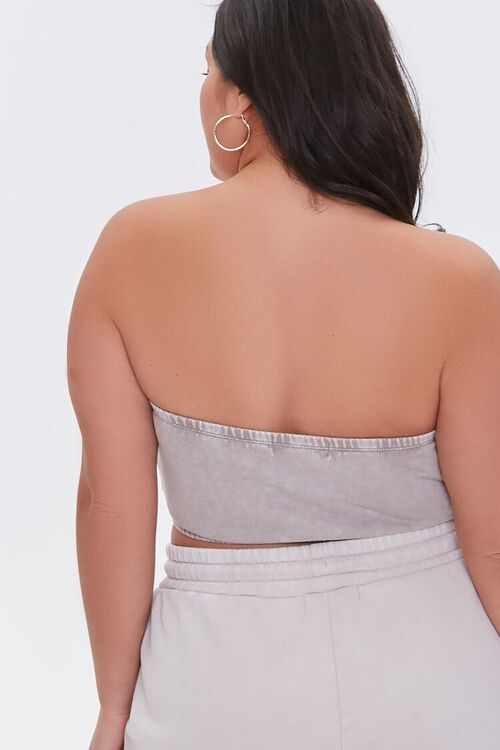 Plus Size Mineral Wash Tube Top, image 3