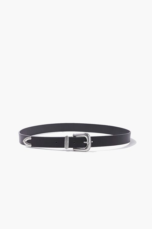 Skinny Faux Leather Belt, image 1