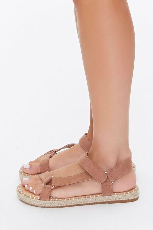 Caged Espadrille Flatform Sandals, image 3